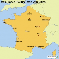 Map Of France Cities And Rivers