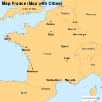 Map France (Map with Cities)