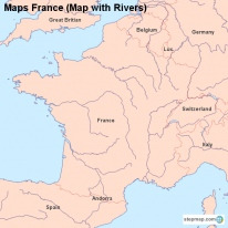 Maps France (Map with Rivers)