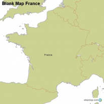 StepMap Maps For France - France map blank