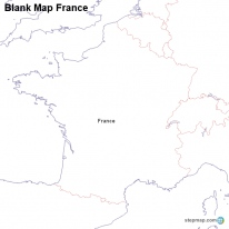 StepMap Maps For France - France map images blank