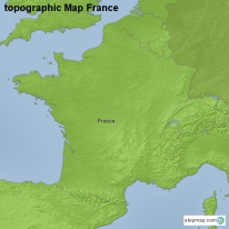 topographic Map France
