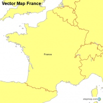Vector Map France