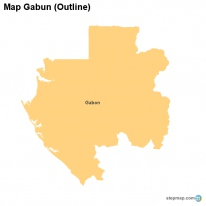 Map Gabun (Outline)