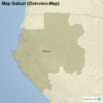 Map Gabun (Overview-Map)