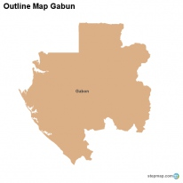 Outline Map Gabun