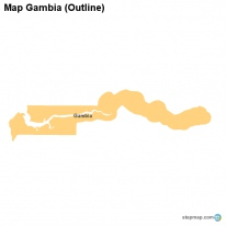 Map Gambia (Outline)