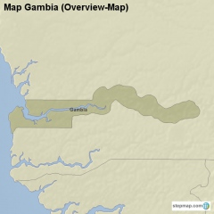 Map Gambia
