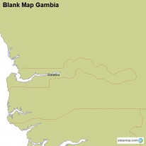 Blank Map Gambia