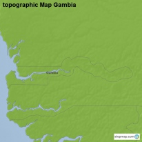 topographic Map Gambia