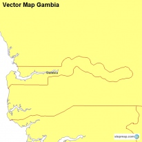 Vector Map Gambia
