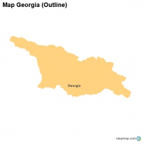 Outline Of Georgia Map.Stepmap Maps For Georgia