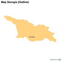 Outline Of Georgia Map.Stepmap Maps For Georgia
