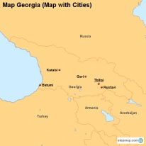 Map Georgia (Map with Cities)