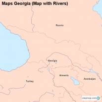 Maps Georgia (Map with Rivers)