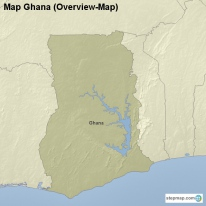 Map Ghana (Overview-Map)