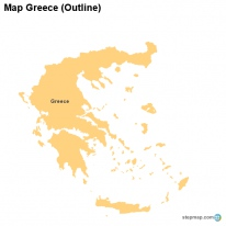 Map Greece (Outline)