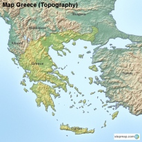 Map Greece (Topography)