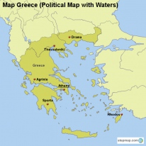 StepMap Maps For Greece - Political map of greece