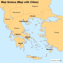 Map Greece (Map with Cities)