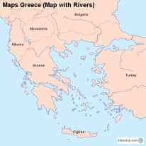 Maps Greece (Map with Rivers)