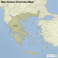 Map Greece (Overview-Map)