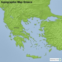 topographic Map Greece