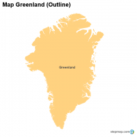 Map Greenland (Outline)