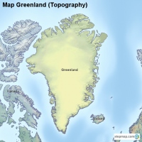 Map Greenland (Topography)