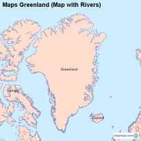 Maps Greenland (Map with Rivers)