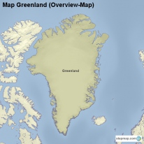 Map Greenland (Overview-Map)