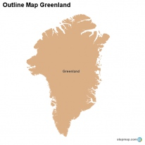 Outline Map Greenland