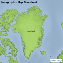 topographic Map Greenland