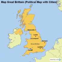 StepMap Maps For Great Britain - Map of great britain