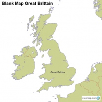 StepMap Maps For Great Britain - France map images blank