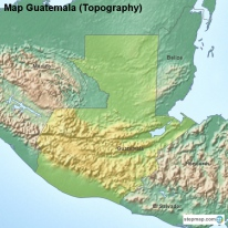 StepMap Maps For Guatemala - Departments map of guatemala