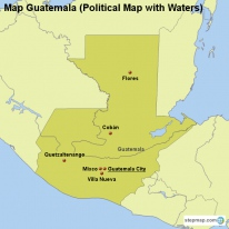 StepMap Maps For Guatemala - Political map of guatemala