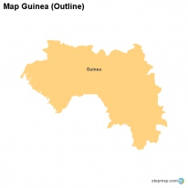 Map Guinea (Outline)