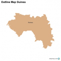 Outline Map Guinea