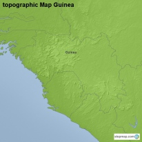 topographic Map Guinea