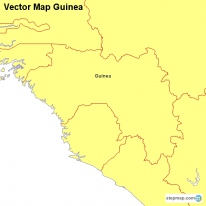 Vector Map Guinea