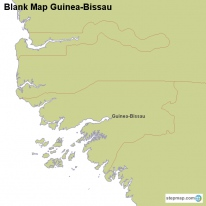 Blank Map Guinea-Bissau