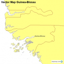 Vector Map Guinea-Bissau