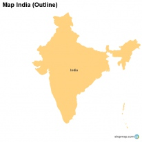Map India (Outline)
