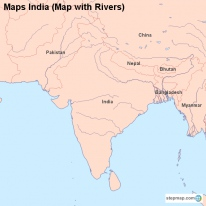 Maps India (Map with Rivers)