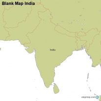 Blank Map India