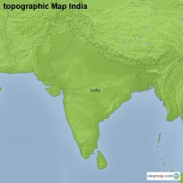 topographic Map India