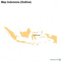 Map Indonesia (Outline)