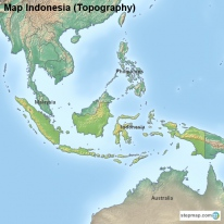 Map Indonesia (Topography)