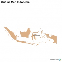Outline Map Indonesia